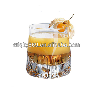 New products 250 ml drinking glass whisky cups square base whiskey glass whiskey glass tumbler