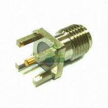 Waterproof adapter plated gold bulkhead RF connectors sma