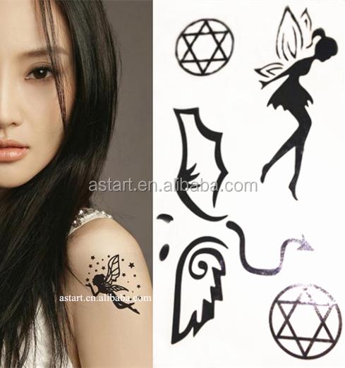 Mooie Meisje Body Art Angel Wing Tattoo Arm Tijdelijke Tattoo