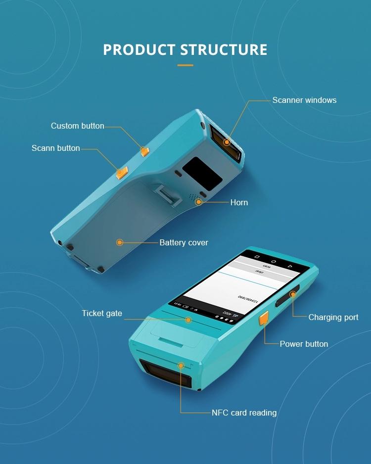 Cheap Handheld Móvel Inteligente Tudo Em Um Terminal POS Android