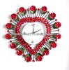 heart flower shape modern DIY style decorative wall clock 360 diy