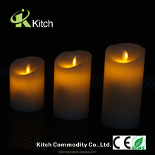 Moving wick led candle Flameless moving wick led candle Flameless led candle