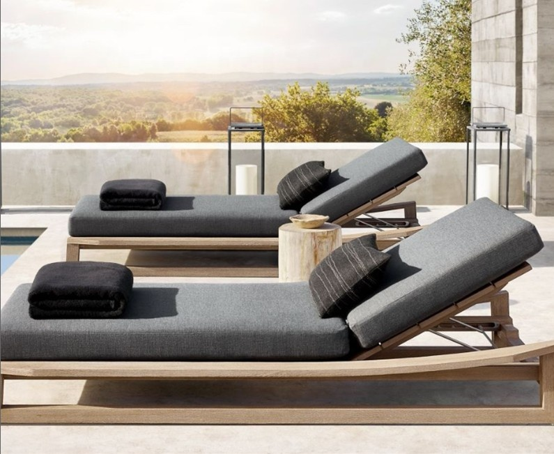 New arrival outdoor wooden patio garden chaise lounge furniture clearance