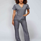 Gray antotmy scrub Cotton Material medical uniform