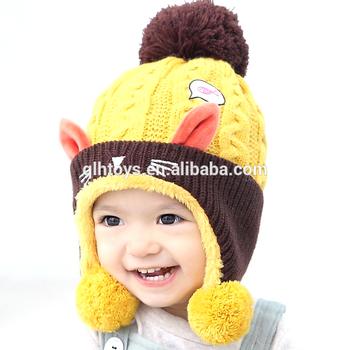 b7eaa157a Cute Baby Winter Hat Warm Infant Beanie Cap For Children Boys Girls Animal  Cat Ear Kids Crochet Knitted Hat - Buy Cute Baby Winter Hat,Warm Infant ...