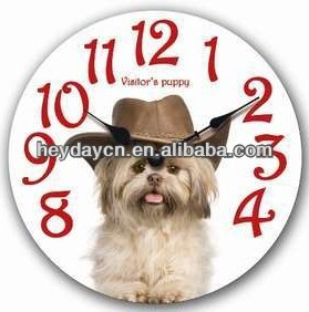 MDF wall clock with dog sounds (HD-6003C)