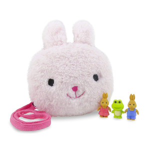 M642 Mini Cute Bunny Rabbit Plush Purse For Baby Girls