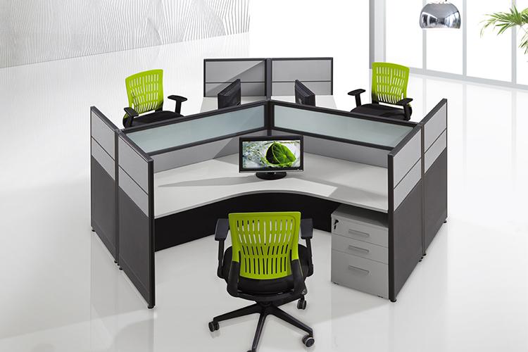 Cf Modualar 120 Grad Mitarbeiter Arbeiten 3 Personen Computertisch