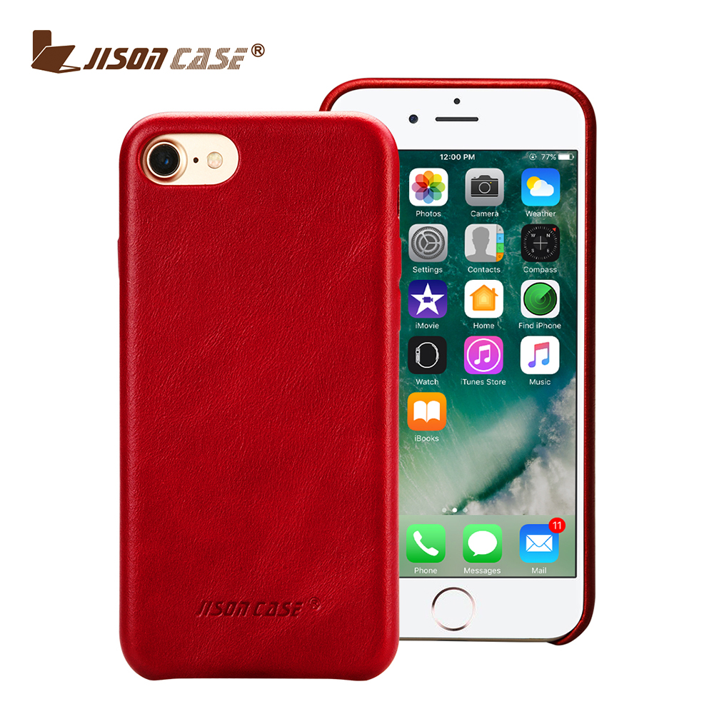Red color fold edge simple design real leather case for mobile phone