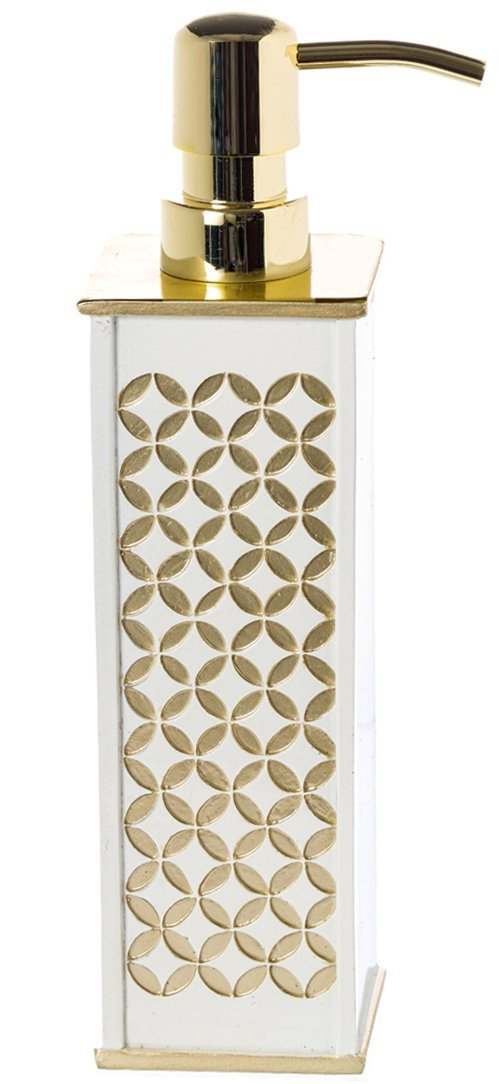 Creative Scents Diamond Lattice Hand Soap Dispenser, Countertop Decorative Lotion Pump, Durable Metal Pump, Resin Bathroom Soap Dispenser, for Elegant Bathroom Decor by