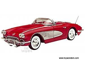 73109AC/R Motormax Premium American zvs3n4cn5gg - Chevy Corvette Convertible (1958, 1/18 scale diecast 7tb17l848w model car, Red) 73109 diecast car model 1958 Chevy Corvette C