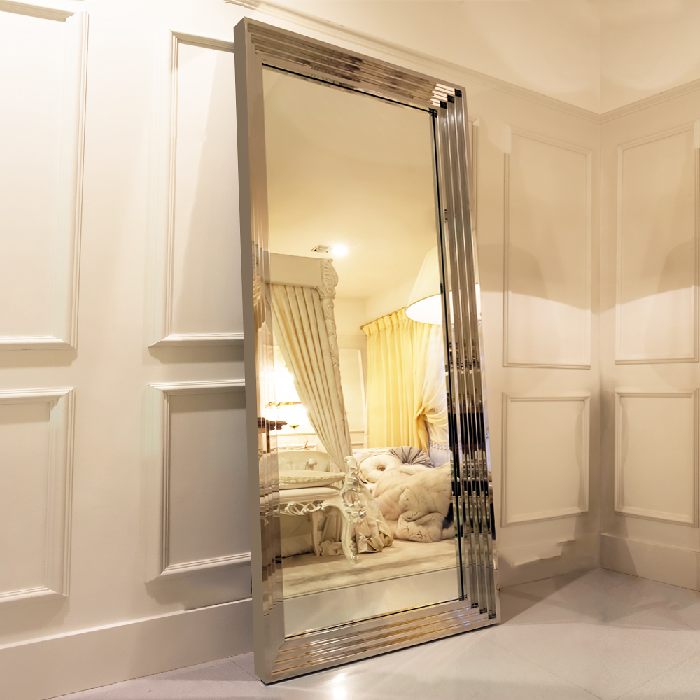 Plated Gold Steel 4000k Touch Screen Led Full Length Mirror Buy Led Mirror Make Up Mirror Led Make Up Bathroom Mirror With Led Product On Alibaba Com
