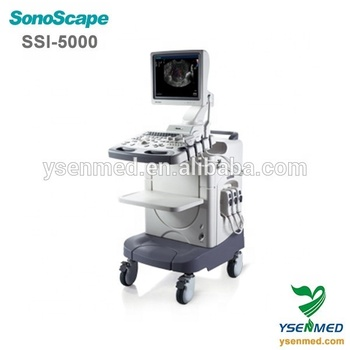 High quality thermal medical mobile 3D cart color ultrasound sonoscape