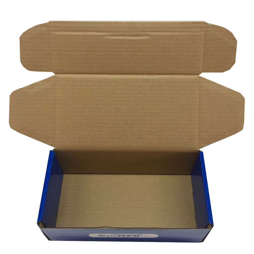 Factory supply Custom high quality packaging  corrugated kraft paper shoe box