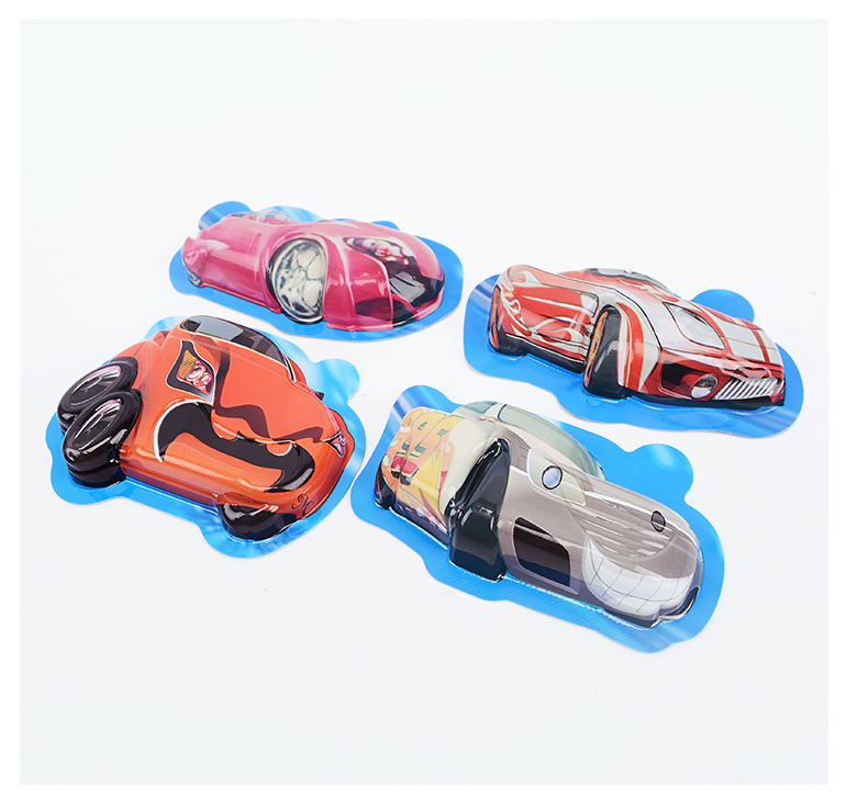 customized surprise car egg chocolate pre made pvc packing material
