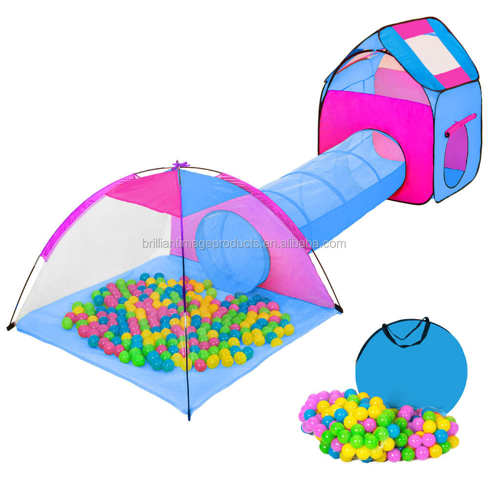 kids play tent set outdoor play house children big pop up play tent with tunnel buy pop up. Black Bedroom Furniture Sets. Home Design Ideas