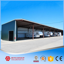Leading prefabricated warehouse materials manufacturer large span steel frame building one stop construction product