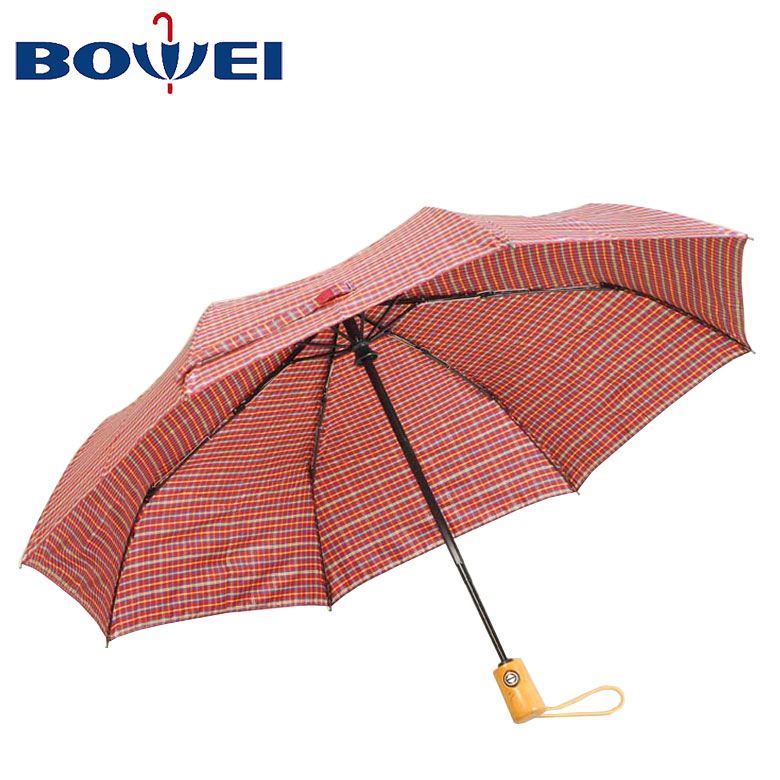 2020 outdoor travel 3 fold low price auto open umbrella with logo print