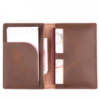 vegetable tanning leather passport wallet / bag personalized passport holder
