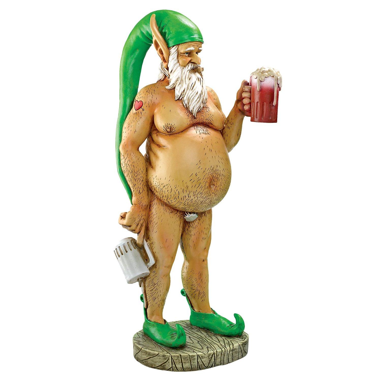 Garden Gnome Statue - Oktoberfest Otto Fully Krausened Elf Gnome - Naughty Gnomes - Drunk Gnome