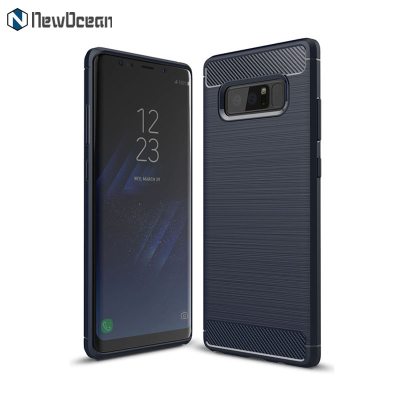 Hot selling Brushed line Carbon fiber phone cover for Samsung Galaxy Note 8 case