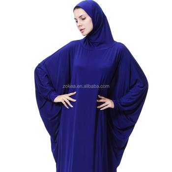 Stock latest gown design abaya burqa islamic clothing clothes muslim women with hijab