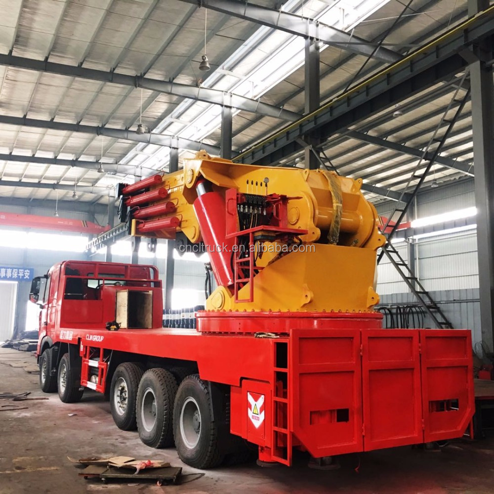 150Tons heavy Knuckle boom truck picked up mounted crane for lifting truck for sale
