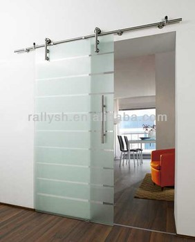 Stainless Steel Hardware Frameless Interior Sliding Glass Doors