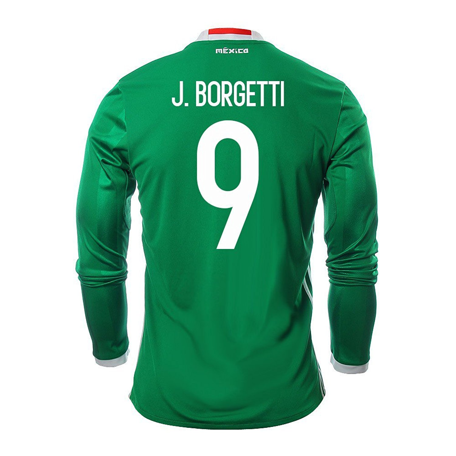 e2062b0fb23c ... spain get quotations j. borgetti 9 mexico mens home jersey long sleeve  2016 2bd5a 5d023