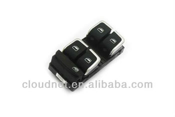 Chrome Driver Side Power Window Panel Master Switch For Audi A4 B8