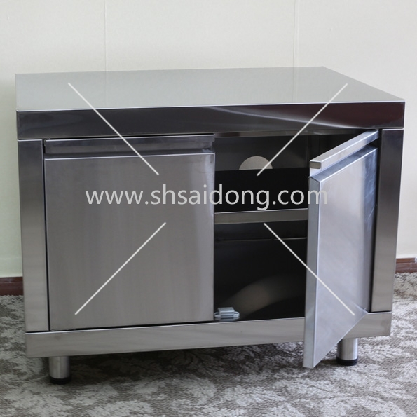 2 Doors Storage Cabinet For Outdoor Barbecue Grill Island,Storage ...