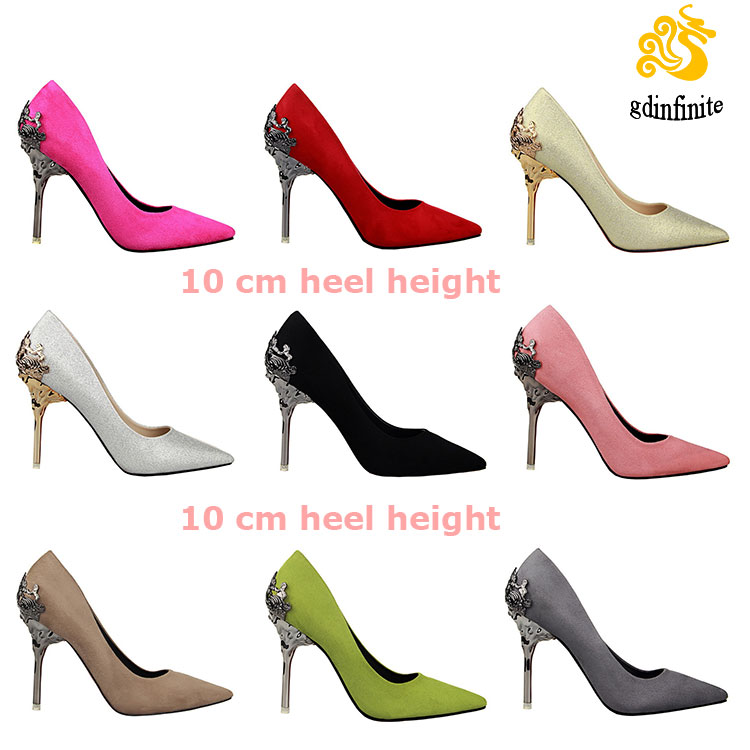 High quality Bigh Size 35-39 latest ladies pointy red weeding dress shoes sexy pencil <strong>heels</strong> for women