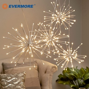 Evermore Home Garden Wedding 3D Christmas Decorative Fireworks Outdoor Hanging Twig Tree Blossom LED Starburst Light