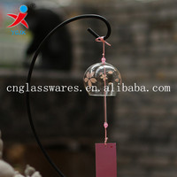 Home decoration glass windchime glass ornaments