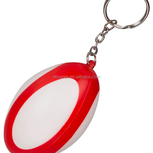 pu rugby ball keychains for kids