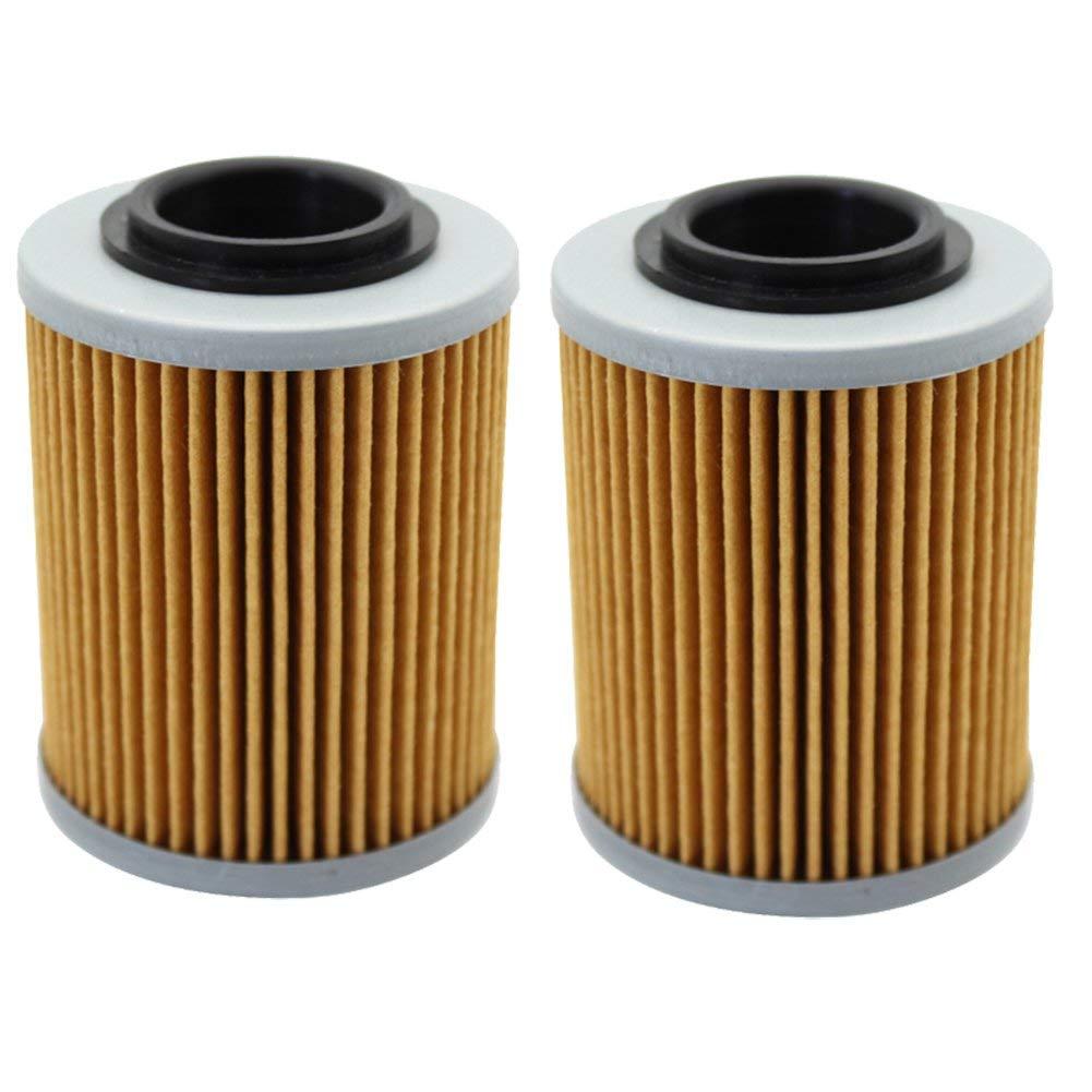 Cyleto Oil Filter for APRILIA RSV 1000 MILLE 1000 1998-2004/RSV1000R MILLE HAGA NERA 2001-2004/RSV 1000 TUONO 2004 2005 - OEM AP0256187 (Pack of 2)