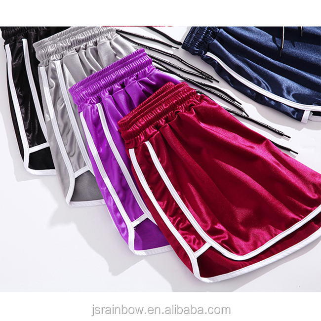 Candy color 5 colors blank plain loose big yards wide-legged female  fitness gym shorts