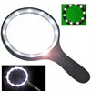 138MM magnifying glass with LED lamp bulbs for elder reading Extra Large magnifying glass
