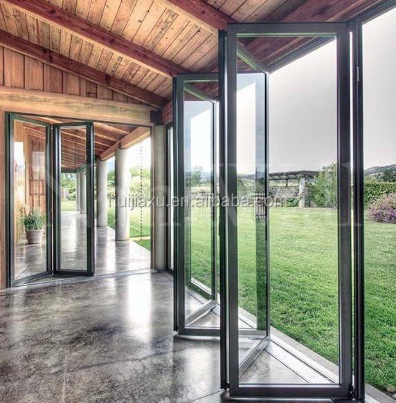 Aluminum Folding Exterior Door,Tempered Glass Folding Doors Aluminum ...