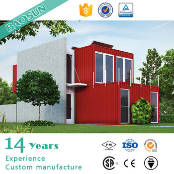 Baosun fast build cost efficient prefabricated container for Cost effective house building