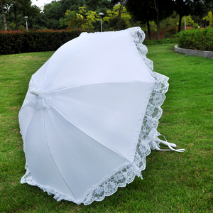 2018 Classical style cotton umbrella lace parasol wedding Decoration