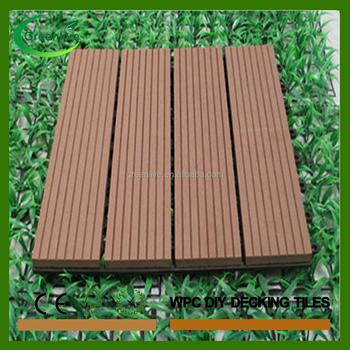 wholesale antislip wpc interlocked swimming pool deck tiles