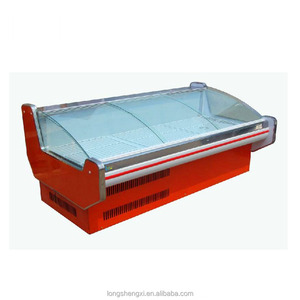 Commercial deli food service counter refrigerated meat case