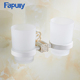 Fapully Bathroom Kitchen Wall Mount Toothpaste Stand Rack, Double Cup Holder ToothbrushShelf