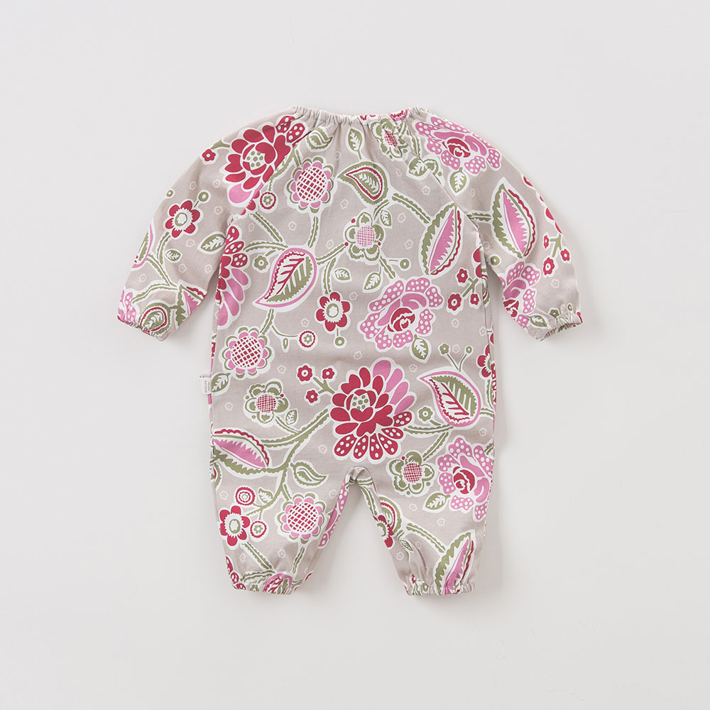 DB5706 dave bella autumn new born baby cotton romper infant clothes girls floral cute floral romper baby 1 piece