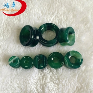 Green Agate Round Ear Plug & Tunnel Jewelry 2017Ear Piercing