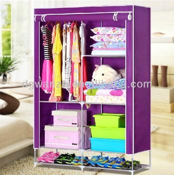 2017 Modern Design Bedroom Furniture Metal80g/ Non Noven Fabric Wardrobe/ Closet/chest