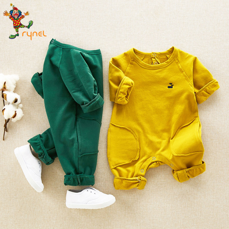 PGCC5191 Wholesale Latest Design Organic Cotton Baby Boys Clothes 2017 Winter Soft Cotton Newborn Baby Romper Clothes