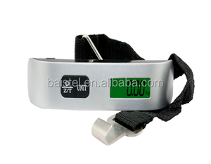 Travel weigh Portable digital Luggage Scale with Strap/Hook and Temperature/Time Display