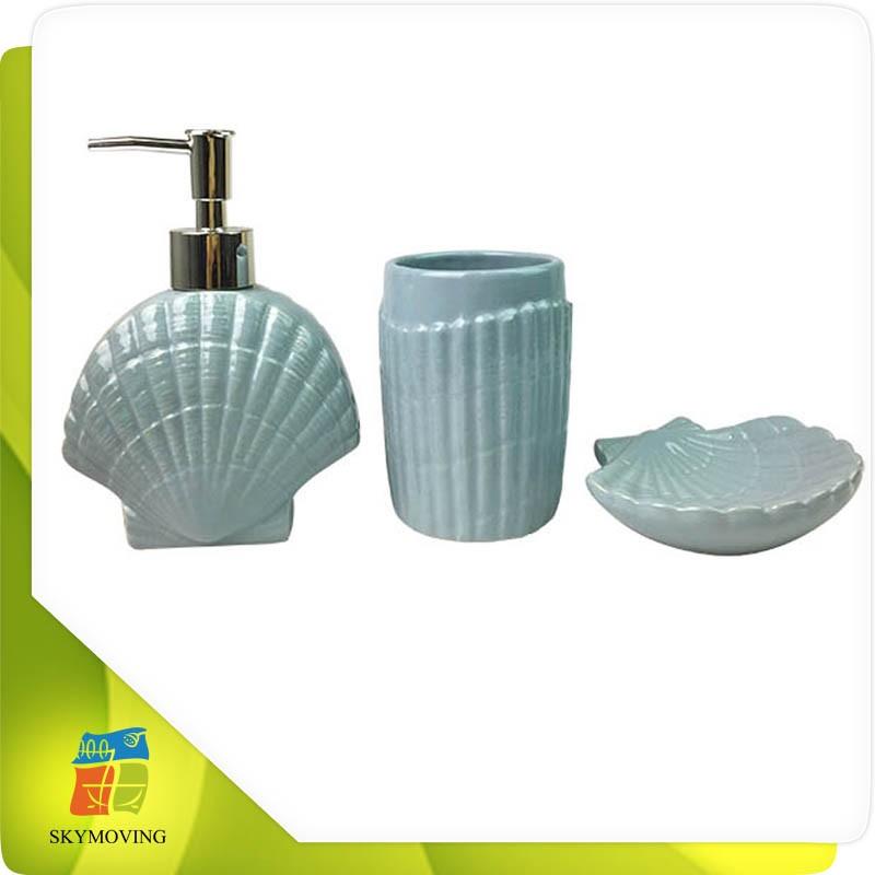 Coquillage conception bleu salle de bains accessoires ensemble